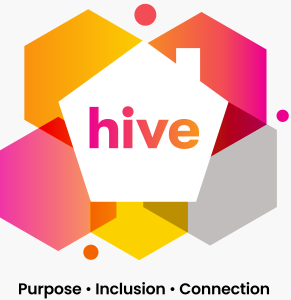 Hive logo: purpose, inclusion, connected